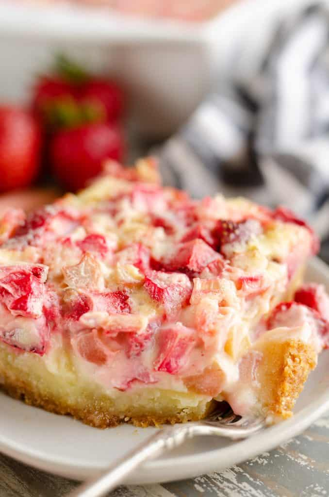 Strawberry Rhubarb Custard Dessert