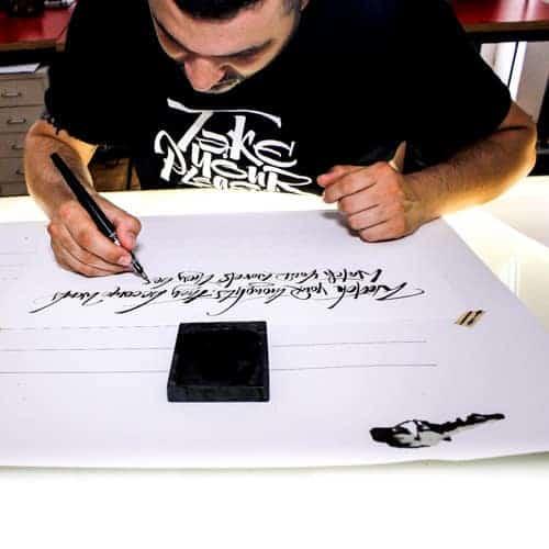 Luca Barcellona calligrafo - scrittura