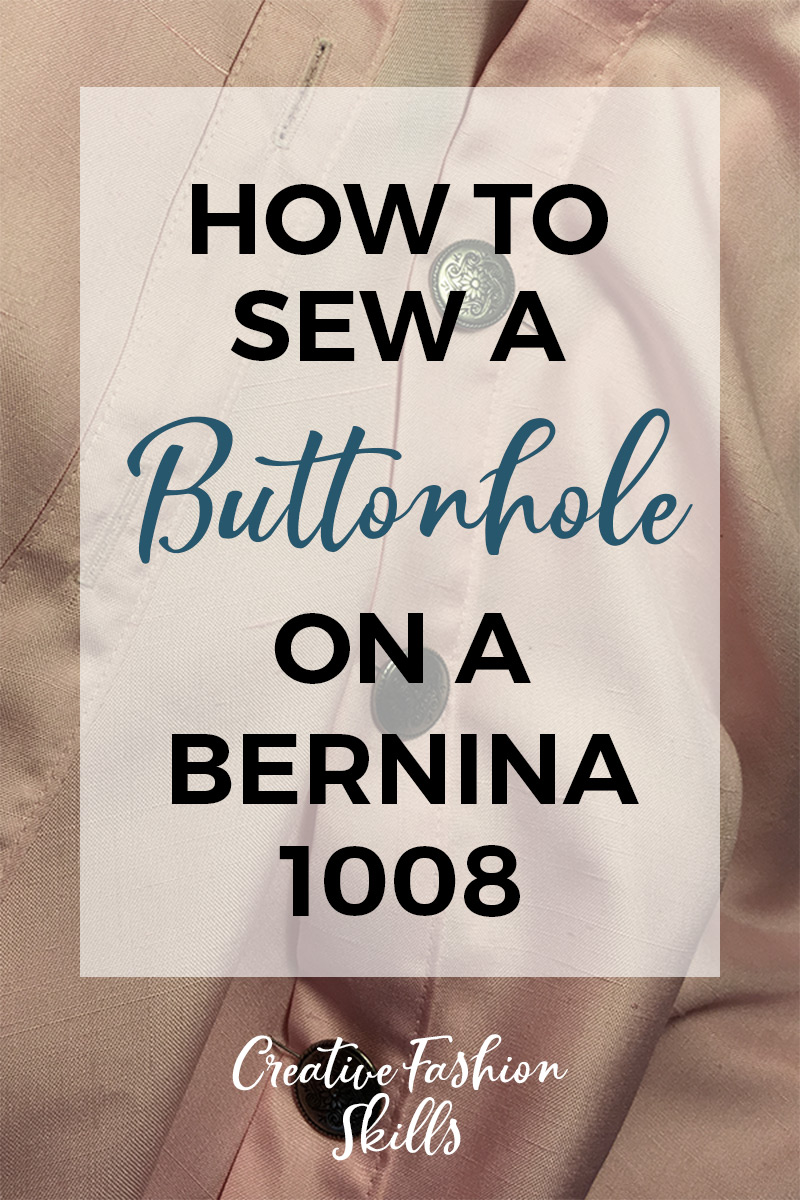 Learn how to sew a machine button hole on a Bernina 1008 with this short video tutorial! #sewing #bernina #sewingbeginners #sewingprojects