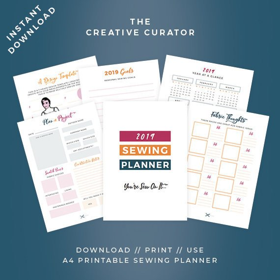 2019 printable sewing planner from The Creative Curator