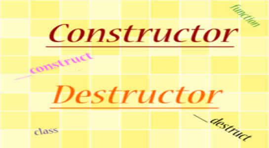 Constructor and Destructor in PHP