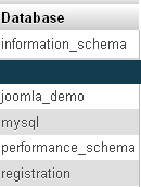 SHOW DATABASES