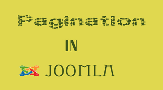 To use Pagination in Joomla