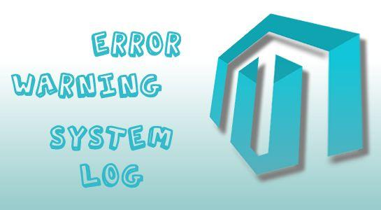 Enable system log and errors/warning in magento
