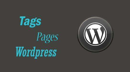 To add Tags to the page in Wordpress