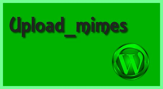 Customize Upload mime types in wordpress