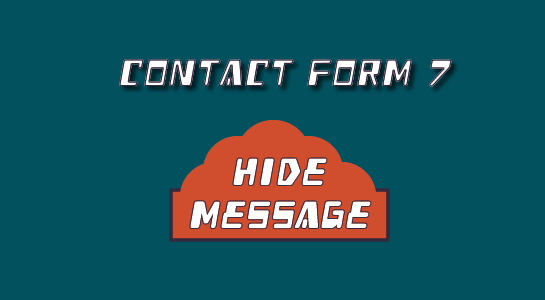 How to hide the success message from Contact Form 7
