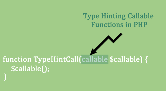 Type Hinting Callable Functions in PHP