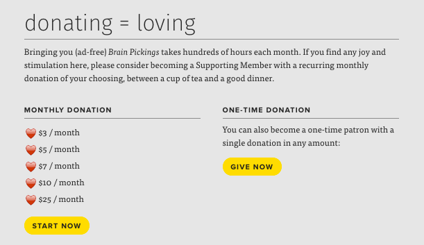 Brainpickings donate