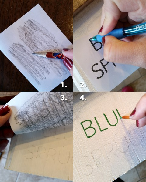 how to stencil letters on a sign