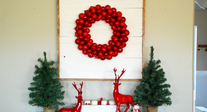 How to Make a SHIPLAP Wreath Display