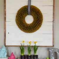 Shiplap Wreath Display + Farmhouse Desk