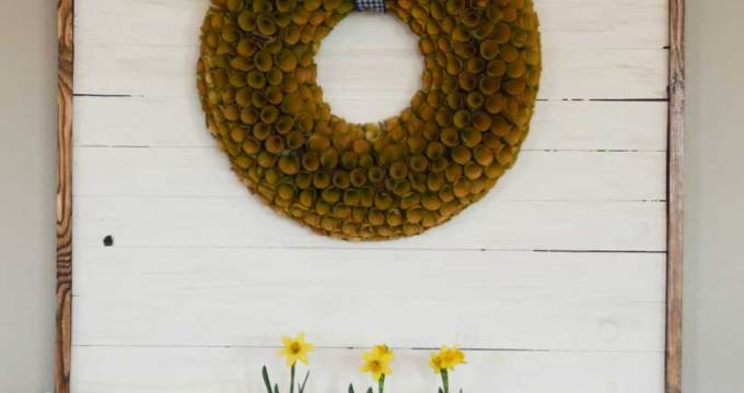Shiplap Wreath Display + Farmhouse Desk