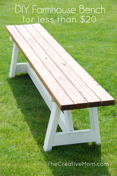 How To Build A Farmhouse Bench For Under 20 The