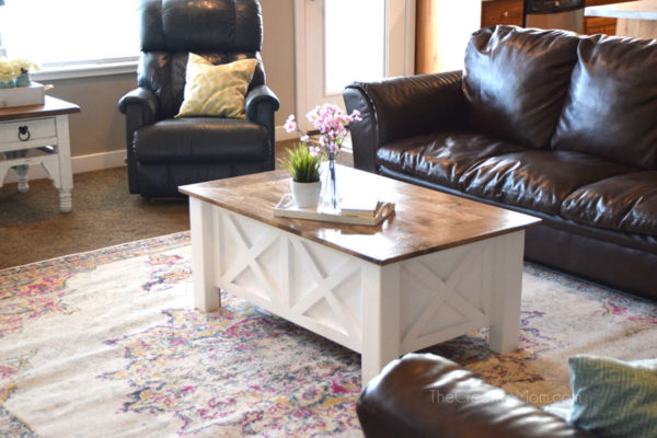 how to build a farmhouse coffee table (with storage)- free building