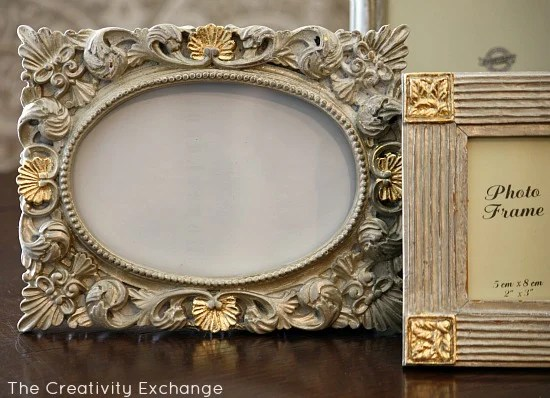 3879a486c7b4 Transform Old Frames Furniture With Spray Paint And Gold Leaf Diy