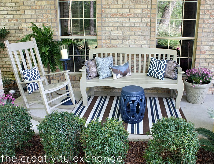Front porched transformed with spray paint {The Creativity Exchange}