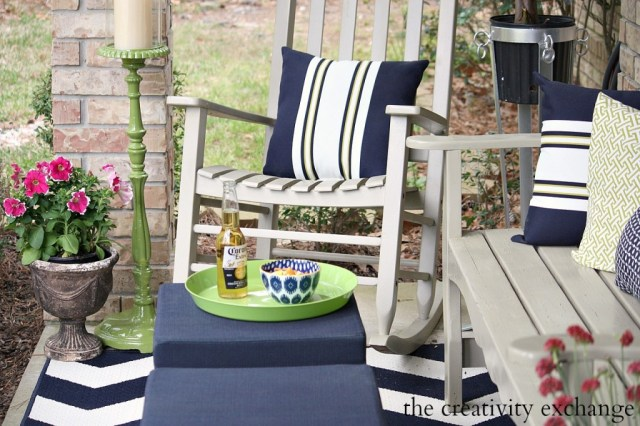 Easy tricks for updating front porch or patio from The Creativity Exchange