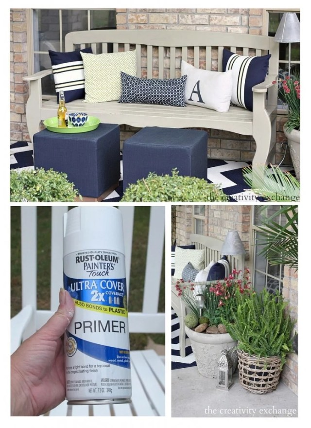 Tips for painting outdoor furniture, garden pots and accessories. The Creativity Exchange