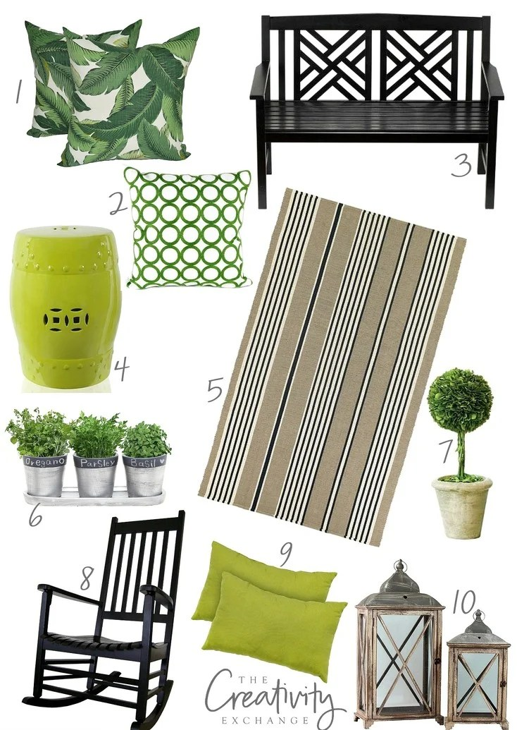 Front porch refresh with sources and tips. The Creativity Exchange