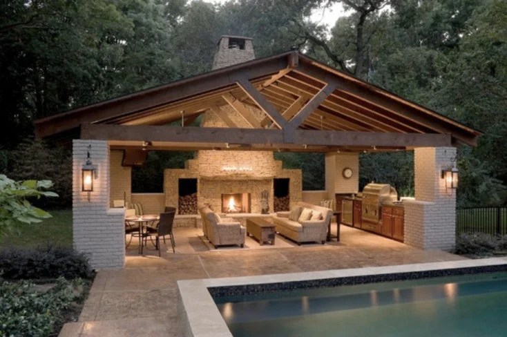 Backyard Porch Lights