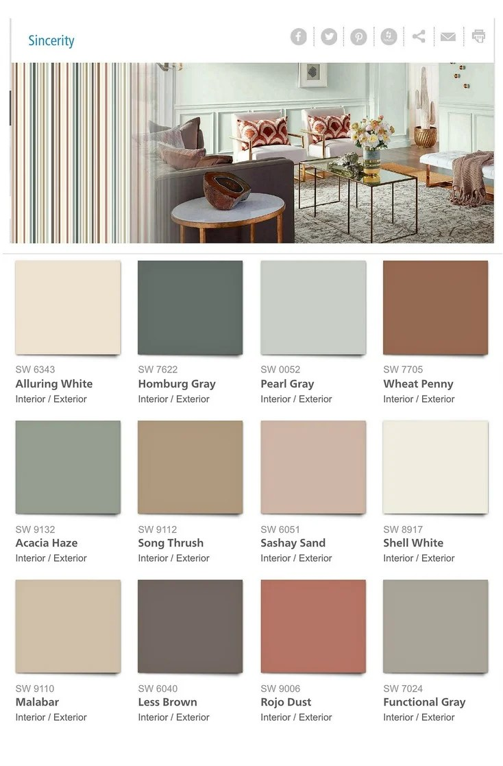 Sherwin Williams 2018 Color Forecast Sincerity
