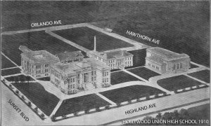 Hollywood High School Overview 1910
