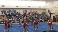 Cheer team placed first in Central League on March 1.