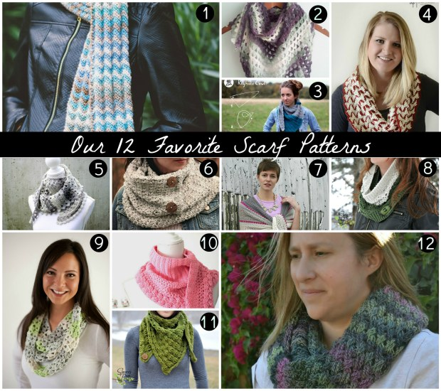 12 favorite scarves numbered
