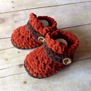 Button Strap Booties