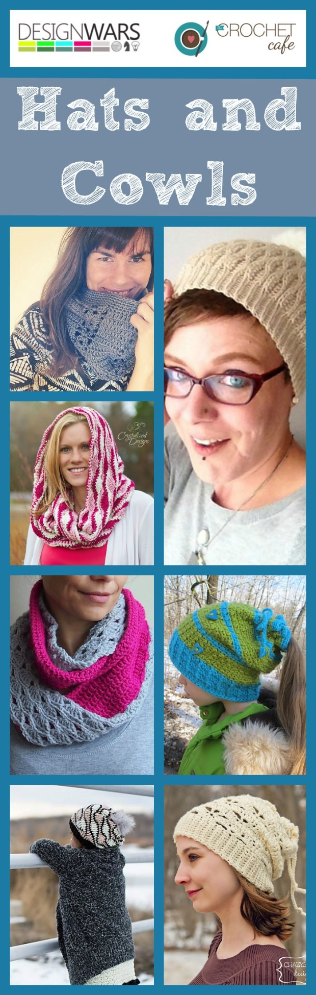 Hats and Cowls by Design Wars and The Crochet Cafe