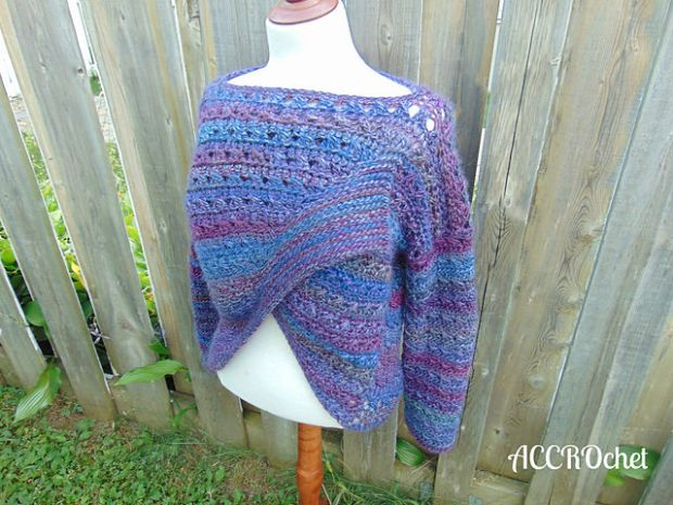 Blueberry Jam sweater by ACCROchet 2