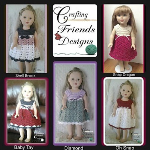 Doll Dress Collection by Crafting Friends