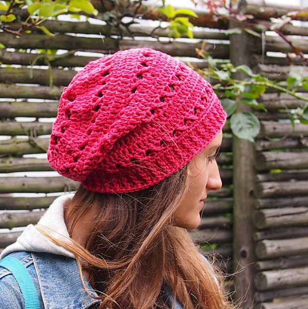 X stitch slouchy hat by Accessorise copy