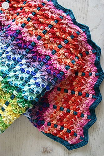 Chromatic Cobble Blanket by Felted Button