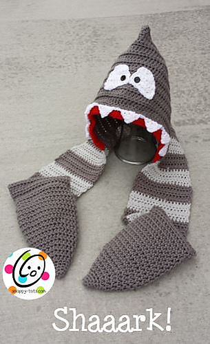 Shaaark Hooded Scarf by SnappyTots