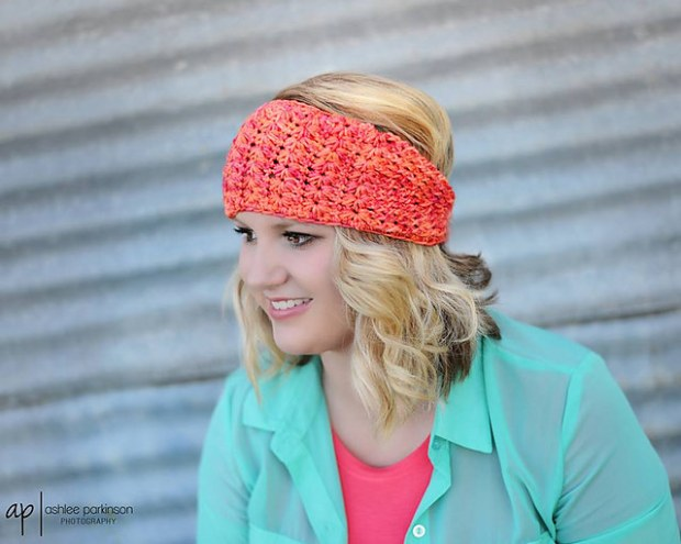 Star Stitch Earwarmer by Crochet by Jennifer
