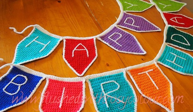 Bunting Flags by Flushed with Rosy Colour