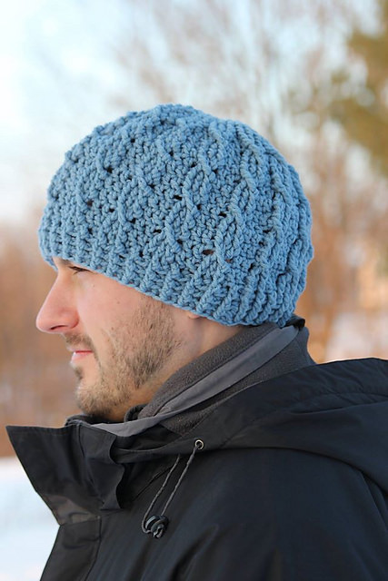 Cable Cross Beanie - 2 Versions by Crochet by Jennifer