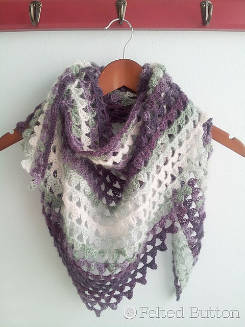 Triangle of Triangles Scarf by Felted Button