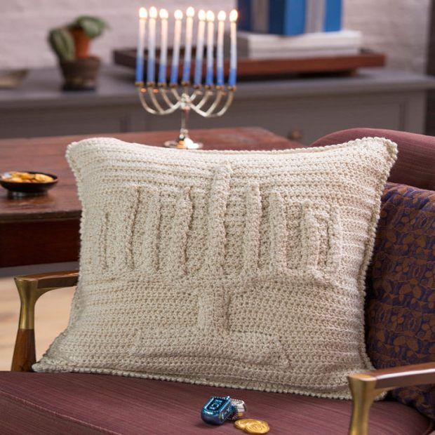 Menorah Pillow by Red Heart