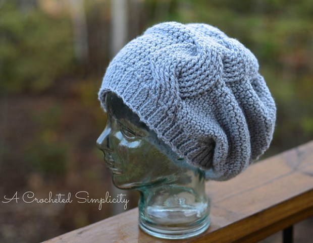 Big Bold Cabled Slouch by Jennifer Pionk