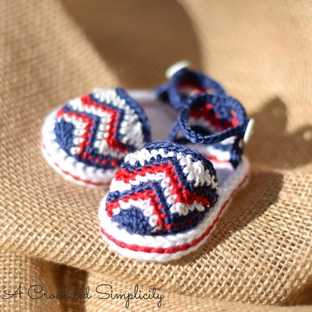 Chasing Chevrons Baby Sandals by Jennifer Pionk
