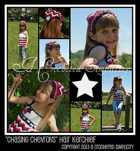 Chasing Chevrons Hair Kerchief by Jennifer Pionk