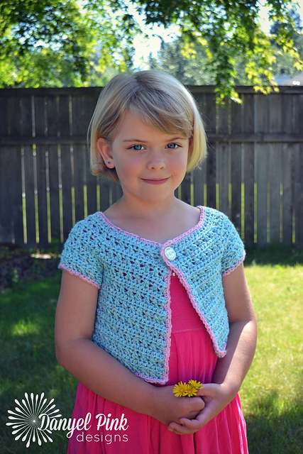 Cotton Candy Cardigan (Child Sizes) by Danyel Pink