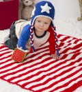 Patriotic Stars and Stripes Blanket by Salena Baca