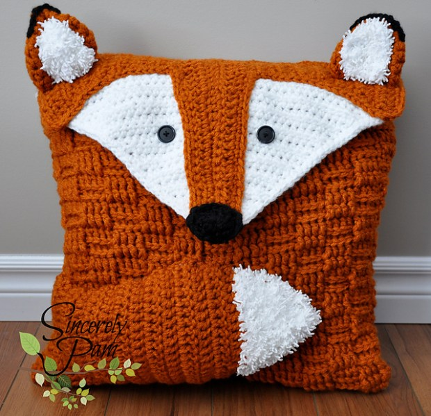 Felix the Fox Pillow Cover by Sincerely Pam