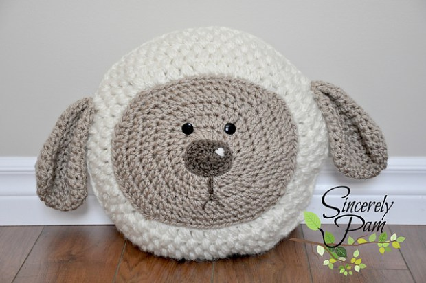Little Lamb Pillow by Sincerely Pam