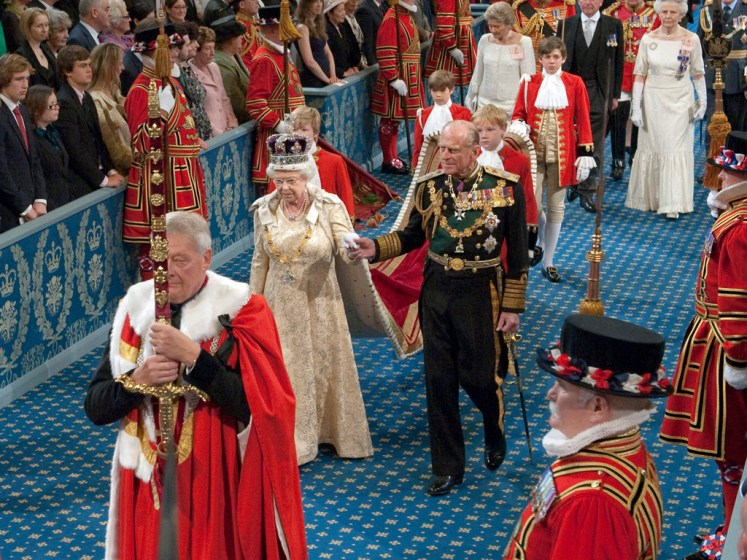 The Royal Procession through the Royal Gallery