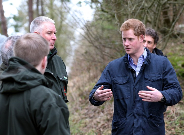 Prince Harry took part in training today. Picture by: Splash